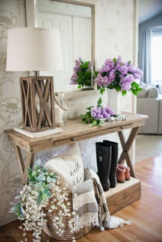 recibidor con home staging